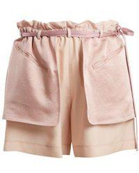 Valentino - Contrast-pocket Elasticated-waist Shorts - Lyst
