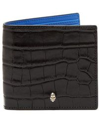 Alexander McQueen - Skeleton-embellished Bi-fold Leather Wallet - Lyst