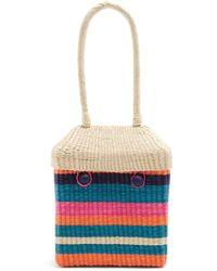 Sophie Anderson - Serella Woven Toquilla Straw Box Bag - Lyst