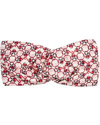 Fendi - F Is Print Silk Headband - Lyst