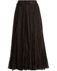 Dodo Bar Or - Jamie Ruffle-trimmed Striped Chiffon Skirt - Lyst