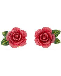 Dolce & Gabbana - Rose Stud Earrings - Lyst