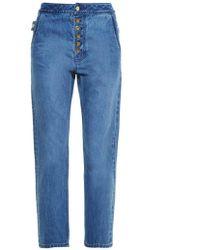 Ellery - Monroe High-rise Slim-leg Jeans - Lyst