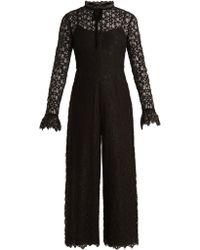 Temperley London | Eclipse Floral-lace Jumpsuit | Lyst