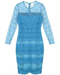 Burberry Prorsum - Long-sleeved Tiered-lace Dress - Lyst