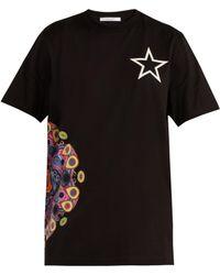 Givenchy - Mandala-print Cotton-jersey T-shirt - Lyst