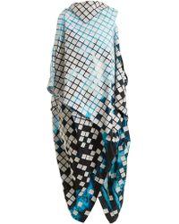 Issey Miyake - Spectrum Asymmetric Draped Dress - Lyst