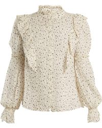 Rebecca Taylor - Star Print Silk Blend Blouse - Lyst