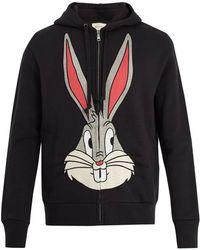Gucci - Bugs Bunny Cotton Hooded Sweatshirt - Lyst