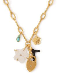 Lizzie Fortunato - Fiamma Charm Gold Plated Necklace - Lyst