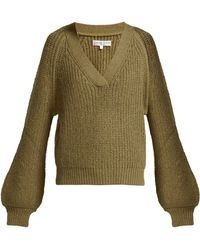 Apiece Apart - Astro Wool Blend V Neck Jumper - Lyst