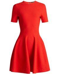 Alexander McQueen - Embossed Knit Dress - Lyst