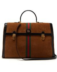 Gucci - - Ophidia Suede And Patent Leather Holdall - Mens - Brown Multi - Lyst