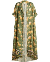 Chufy - Safari Print Linen Robe - Lyst