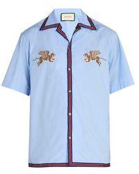 Gucci - Flying Tigers Bowling Shirt - Lyst