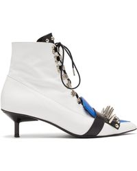 Marques'Almeida - Studded Lace Up Leather Ankle Boots - Lyst