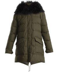 Mr & Mrs Italy | Mongolian-fur Lined Padded Coat | Lyst