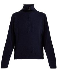 Allude - Half-zip Ribbed Cashmere Jumper - Lyst