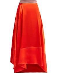 ROKSANDA - Shona Asymmetric Silk Satin Skirt - Lyst