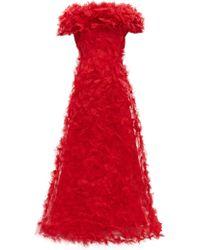 Rodarte - Rosette Appliqué Tulle Gown - Lyst