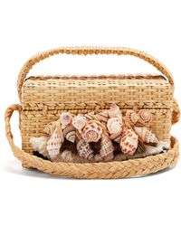 Sanayi 313 - Iris Seashell-embellished Straw Box Bag - Lyst