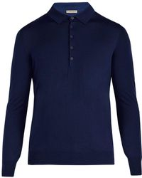 Bottega Veneta - Long Sleeved Wool Polo Shirt - Lyst