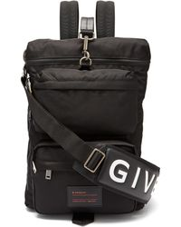Givenchy - Ut3 Leather Trimmed Nylon Backpack - Lyst