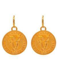 Versace - Wheat Gold-tone Metal Drop Earrings - Lyst