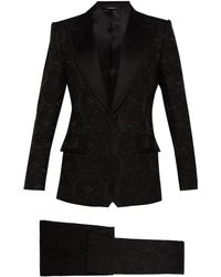 Dolce & Gabbana Floral Brocade And Satin Three Piece Suit