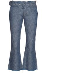 Marques'Almeida | Frayed-edge Flared Cropped Jeans | Lyst