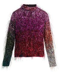 Ashish - Tinsel Sequin-embellished Silk Top - Lyst