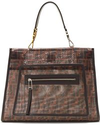 Fendi - Runaway Large Mesh And Leather Bag - Lyst