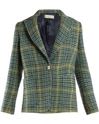 Golden Goose Deluxe Brand - Venice Single Breasted Checked Blazer - Lyst