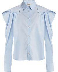 Rachel Comey - Crescent Gathered Shoulder Cotton Shirt - Lyst