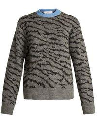 Toga - Animal-jacquard Wool-blend Sweater - Lyst