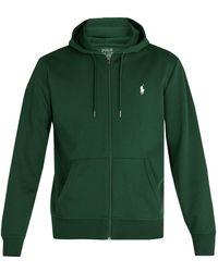Polo Ralph Lauren - Zip-through Hooded Cotton-jersey Sweatshirt - Lyst