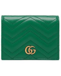 Gucci - Gg Marmont Quilted Leather Wallet - Lyst