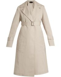 Calvin Klein | Peak-lapel Long Silk-blend Coat | Lyst