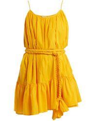Rhode Resort - Nala Tie Waist Cotton Dress - Lyst