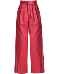 Raey - Wide Leg Cotton Chino Trousers - Lyst