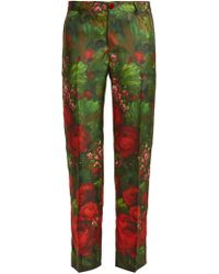 F.R.S For Restless Sleepers - Tartaro Rose-print Silk Trousers - Lyst
