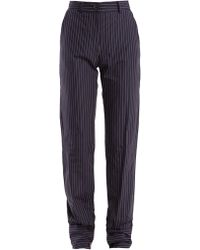 JW Anderson - High-rise Pinstriped Cotton Trousers - Lyst