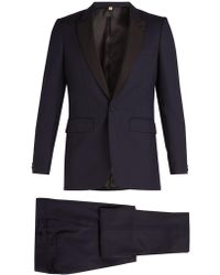 Burberry - Contrast-lapel Single-breasted Wool Tuxedo - Lyst