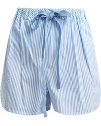 Fendi - Striped Cotton Poplin Shorts - Lyst
