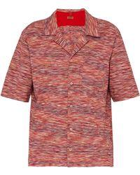Missoni - Striped Cotton Jersey Bowling Shirt - Lyst