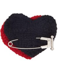 Prada Heart Safety Pin Wool Brooch - Multicolour