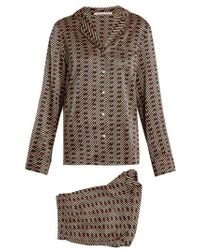 Stella McCartney - Poppy Snoozing Stretch-silk Pyjama Set - Lyst