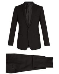 Dolce & Gabbana - Gold-fit Shawl Lapel Stretch-wool Suit - Lyst