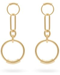 Chloé - Chain Link Hoop Earrings - Lyst