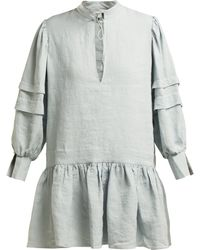 White Story - Willow Linen Mini Dress - Lyst